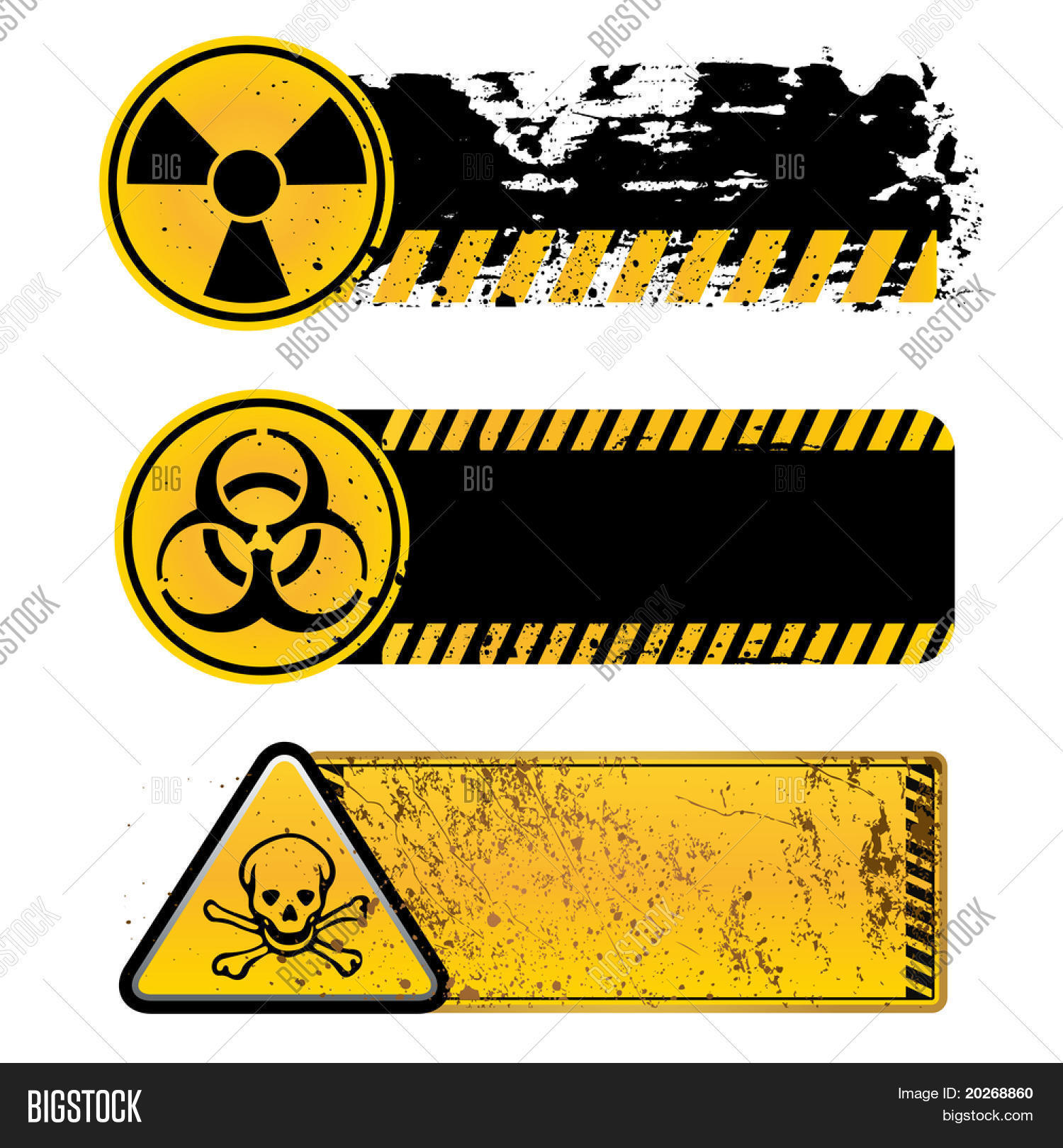 Danger Warning Vector Photo Free Trial Bigstock