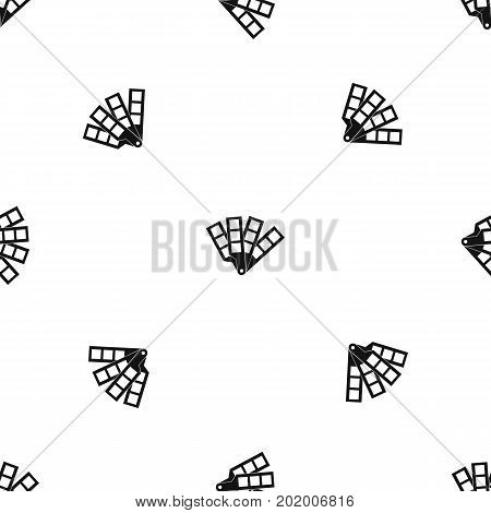Color palette guide pattern repeat seamless in black color for any design. Vector geometric illustration