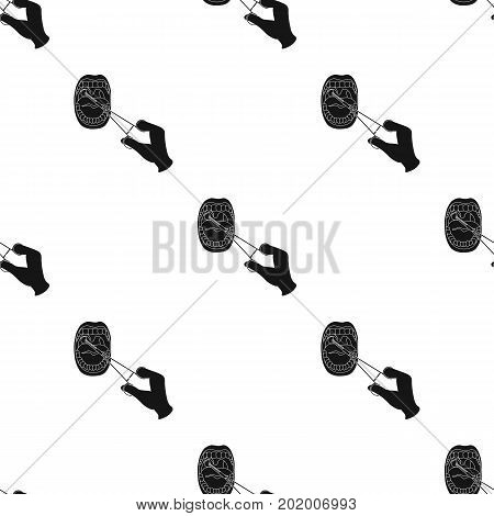 Treatment of the tonsils In the oral cavity. Medicine single icon in black style vector symbol stock illustration .