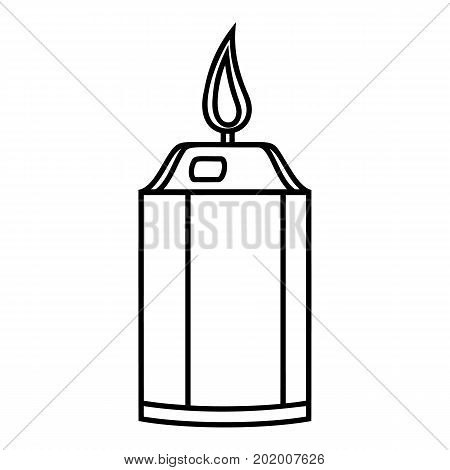 Beautiful candle icon. Outline illustration of beautiful candle vector icon for web