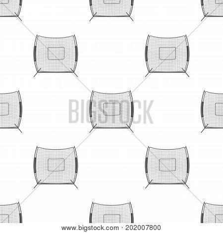 Protective fencing.Baseball single icon in monochrome style vector symbol stock illustration .