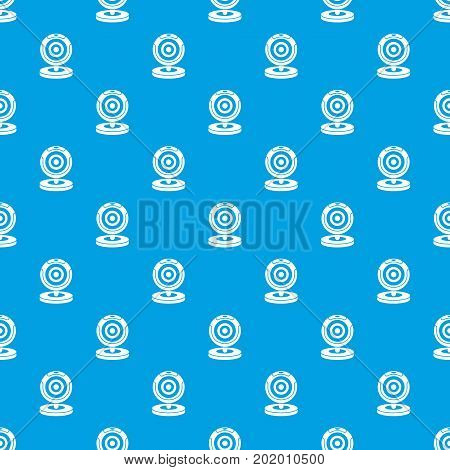 Webcam pattern repeat seamless in blue color for any design. Vector geometric illustration
