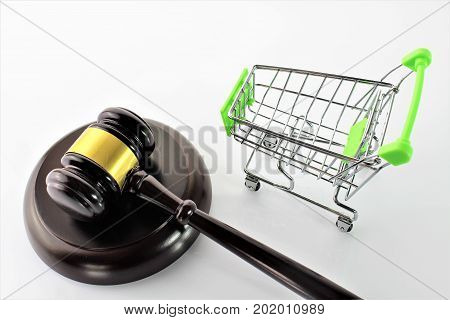 An concept image of e-commerce and law