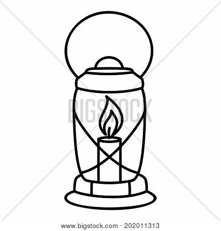 Lantern candle icon. Outline illustration of lantern candle vector icon for web