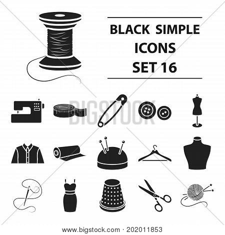 Atelie set icons in black style. Big collection atelie vector symbol stock poster