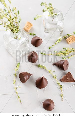 Homemade Praline Chocolate Candies
