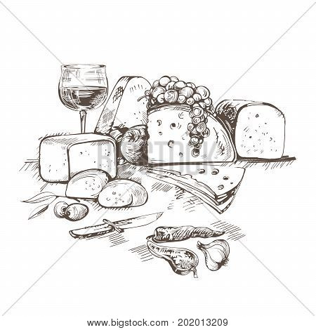 Cheeses.