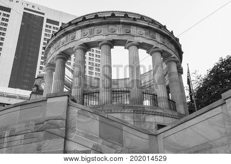 Brisbane, Australia - Thursday 17th August, 2017: View of Anzac Square War Memorial in Brisbane City on Thursday 17th August 2017.