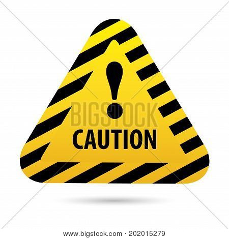 Sign Warning, danger. The exclamation point in an orange triangle. Signal caution.