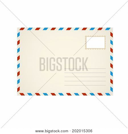 Air envelope of the letter. Realistic vector illustration. mock-up empty envelope for your projects.