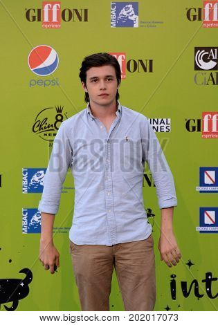 Giffoni Valle Piana Sa Italy - July 21 2017 : Nick Robinson at Giffoni Film Festival 2017 - on July 21 2017 in Giffoni Valle Piana Italy