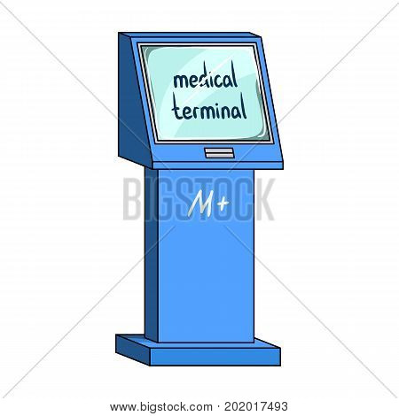 Medical terminal. Terminals single icon in cartoon style isometric vector symbol stock illustration .