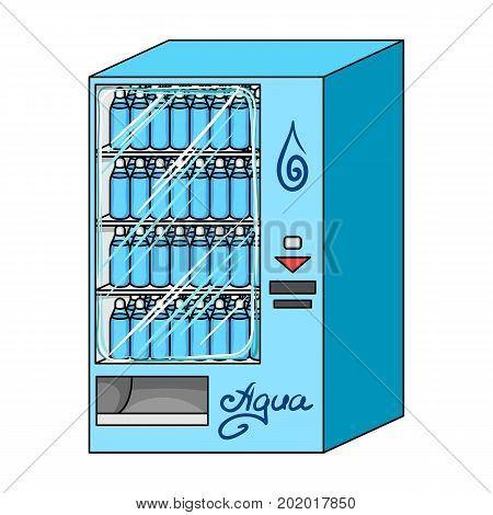 Terminal for the sale of bottled water. Terminals single icon in cartoon style isometric vector symbol stock illustration .