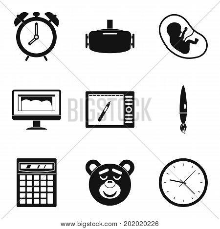 Awakening icons set. Simple set of 9 awakening vector icons for web isolated on white background