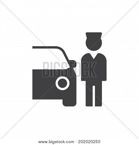 Valet Parking icon vector, filled flat sign, solid pictogram isolated on white. Symbol, logo illustration. Pixel perfect vector graphics