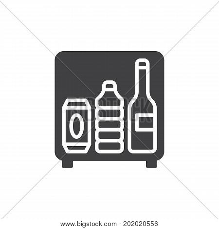 Mini bar icon vector, filled flat sign, solid pictogram isolated on white. Symbol, logo illustration. Pixel perfect vector graphics