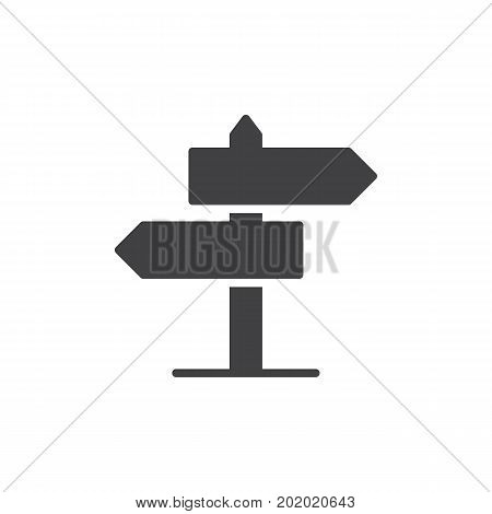 Signpost icon vector, filled flat sign, solid pictogram isolated on white. Guidepost symbol, logo illustration. Pixel perfect vector graphics