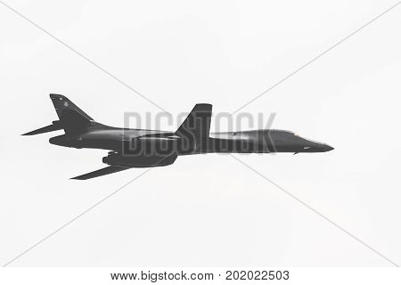 Radom, Poland - August 26, 2017 :american Air Force B1B Bomber During Air Show Radom 2017.