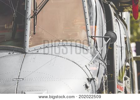 Radom, Poland - August 26, 2017 : Polish Navy Helicopter During Air Show Radom 2017.