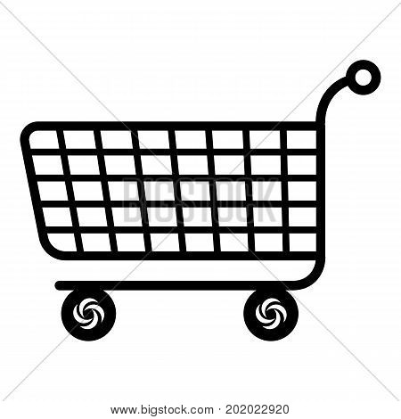 Trolley icon. Simple illustration of trolley vector icon for web