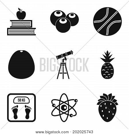 Useful icons set. Simple set of 9 useful vector icons for web isolated on white background