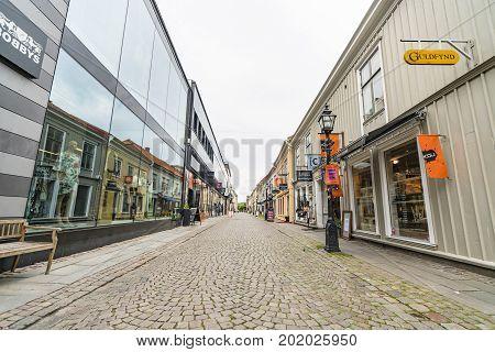 Empty Shopping Street In Jönköping