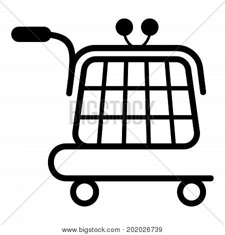 Economy trolley icon. Simple illustration of economy trolley vector icon for web