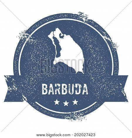 Barbuda Logo Sign. Travel Rubber Stamp With The Name And Map Of Island, Vector Illustration. Can Be