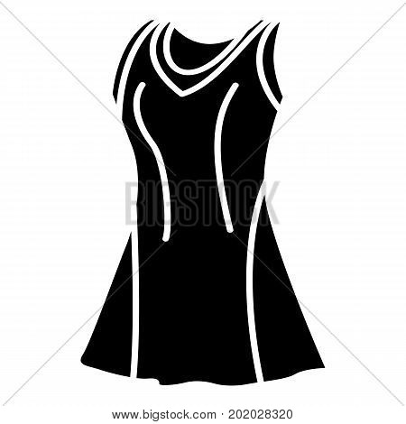 Tennis female form icon. Simple illustration of tennis female form vector icon for web