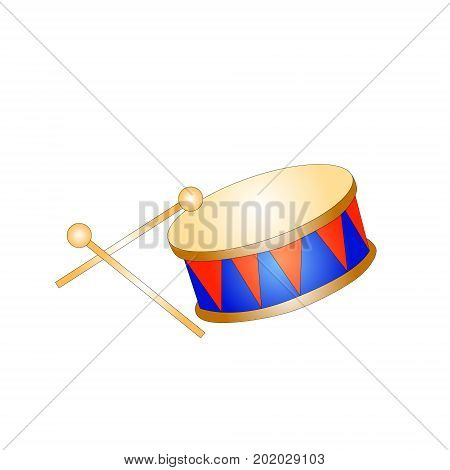 drum toy kid isolated icon vector illustration