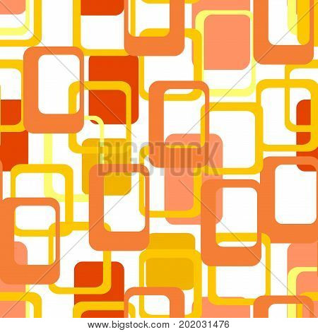Abstract flat geometric pattern orange. Repeating pattern for printing on men's and women's clothing, paper, upholstery, fabric, textile,covers. Seamless vector illustration