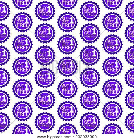 Pattern background Buy one get one free Icon