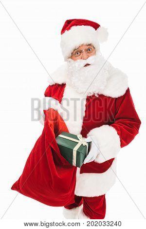 Santa Claus With Gift Box
