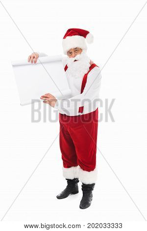 Santa Claus With Wish List