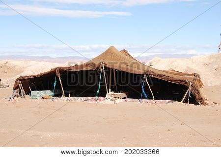 Morocco, a nice example of a bedouin tent