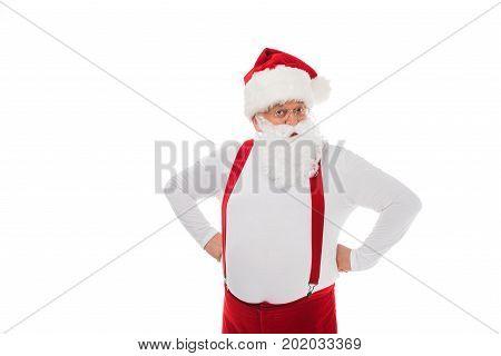Santa Claus In Suspenders