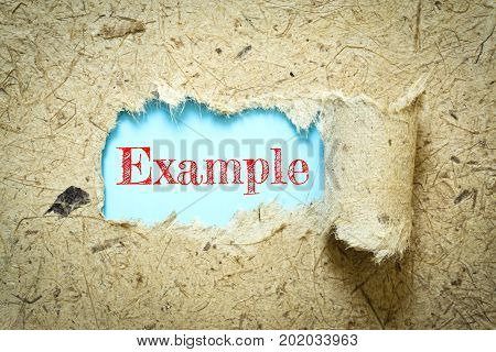 Text Example on paper blue has Mulberry paper background you can apply to your product.