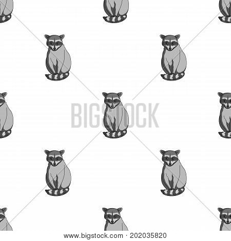 Raccoon.Animals single icon in monochrome style vector symbol stock illustration .