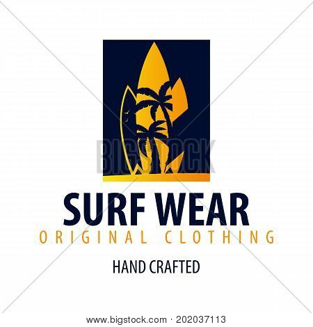 Surfing Logo And Emblems For Surf Club Or Shop. Vector Illustration.