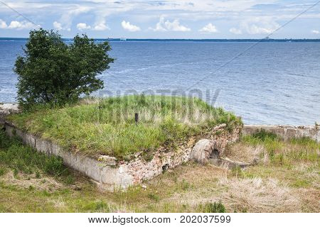 Old Abandoned Concrete Bunker From Wwii Period