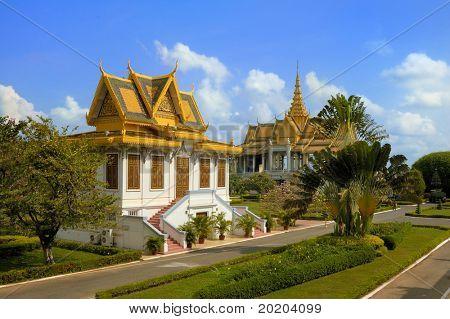Scene in the Royal palace, Phnom Penh,Cambodia