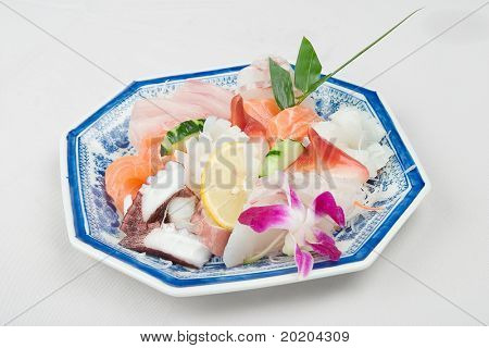 Asian food series:salmon and vegetables