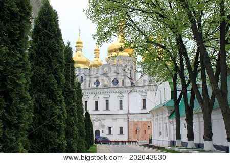 KIEV, UKRAINE - MAY 3, 2011: This is Assumption Cathedral of the Kiev-Pechersk Lavra.