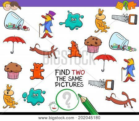 Find Two Identical Pictures Activity Game