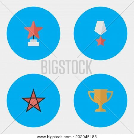 Elements Premium, Award, First And Other Synonyms Award, Trophy And Cub.  Vector Illustration Set Of Simple Awards Icons.