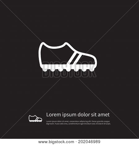 Running Vector Element Can Be Used For Sneakers, Gumshoes, Footwear Design Concept.  Isolated Gumshoes Icon.