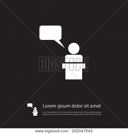 Orator Vector Element Can Be Used For Lecturer, Orator, Speaker Design Concept.  Isolated Lecturer Icon.