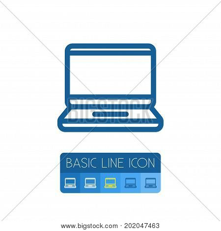 Laptop Vector Element Can Be Used For Laptop, Display, Computer Design Concept.  Isolated Display Outline.