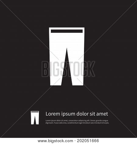 Pants Vector Element Can Be Used For Pants, Trousers, Breeches Design Concept.  Isolated Breeches Icon.