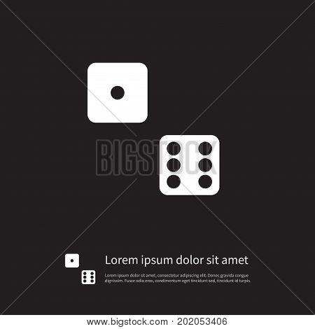 Die Vector Element Can Be Used For Die, Dice, Luck Design Concept.  Isolated Dice Icon.
